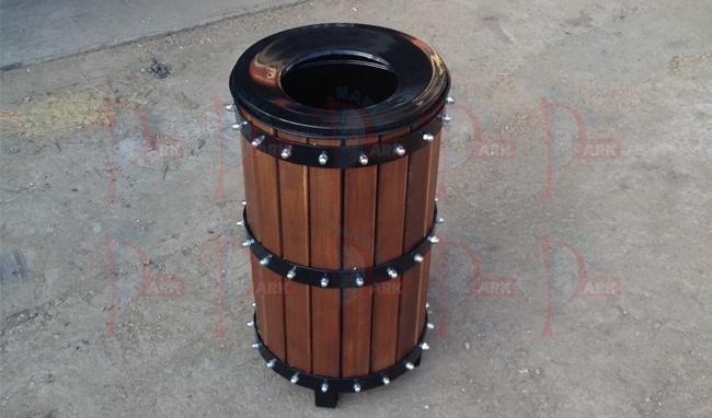 NP493 Ahşap Çöp Kovası